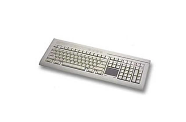 Preh PC/POS keyboard with MSR 1+2+3, glide point
